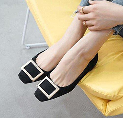 KUKI Metallschnalle Seite des Anstiegs in einem einzigen weiblichen Schuhe 1