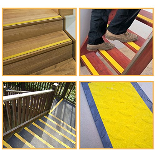 EONBON Yellow Anti Slip Tape, Non Slip Stair Tape, Anti Skid Tape Outdoor , Safety Grip Tape For Steps , Tread Tape - 2 inch x 10 Meter (32.8 Feet) by EONBON (Image #3)
