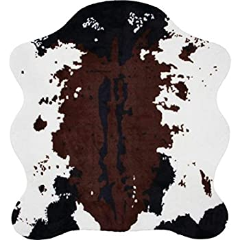 "Classic Safari Cow Print Rug, 56 x 61"""