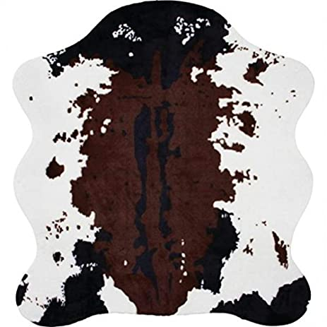 Classic Safari Cow Print Rug, 56 X 61u0026quot;