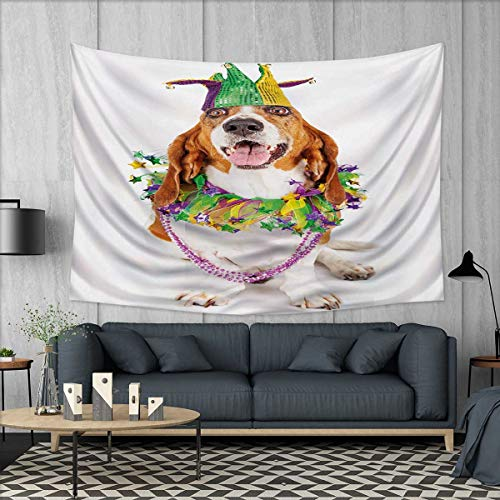Anhuthree Mardi Gras Tapestry Wall Hanging 3D Printing Happy