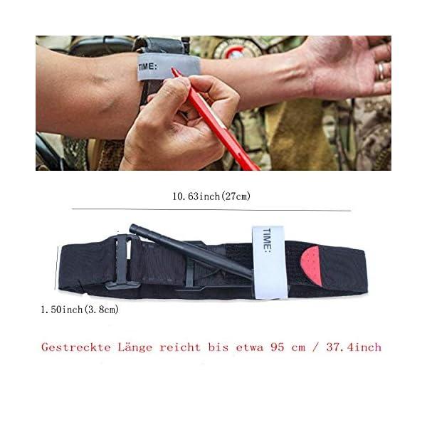 BEIAOSU Torniquete 2PCS Cinturón de Primeros Auxilios Torniquetes Tactico para el Control de la Pérdida de Sangre Senderismo para Exteriores 5
