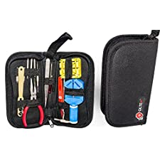 Watch Repair Kit with E-Book Instructions and Spring Bar,Pin,Battery,Strap,Link Removal Tool,Carry Case