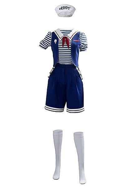 Stranger Things 3 Disfraz de Cosplay Steve Harrington Robin Scoops Ahoy Traje de uniforme de marinero náutico Disfraces de carnaval de Halloween para ...