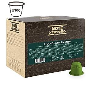 Note D'Espresso Cioccolata e menta, Bevanda in capsule, 7 g x 100 Esclusivamente Compatibili con le macchine per caffè a capsule Nespresso*