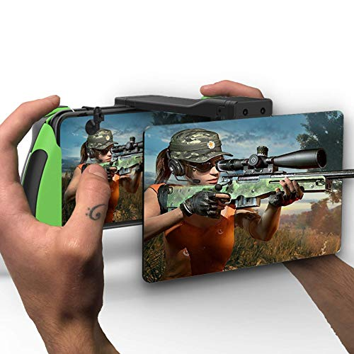PUBG Mobile Trigger and Screen Magnifier | Mobile Gamepad Triggers for iPhone and Android Devices 4.7-6 Inch Screens | Perfect Phone Controller for Games Like Fortnite Mobile, PUBG Mobile