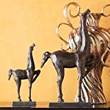 thaisan7 12.5'', Long Cubist Horse Large Reminiscent Movement Avant-garde Sculpture Cast Ir