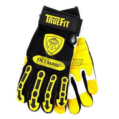 Tillman 1494L Truefit Goatskin Palm, Nylon/Spandex w/TPR Pads,Work Gloves, Large