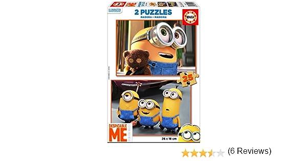 Puzzles Educa - Puzzle, 2 x 25 Piezas, con diseño Minions (16526): Amazon.es: Juguetes y juegos