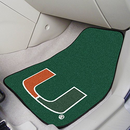 FANMATS NCAA University of Miami Hurricanes Nylon Face Carpet Car -