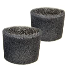 HQRP 2-pack Foam Filter Sleeve for Shop-Vac Wet / Dry Vacuums, 9058500 / 905-85-00 / 90585 Replacement + HQRP Coaster