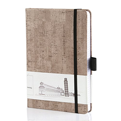 Natural Friendly Eco (Kesoto Eco-Friendly Natural Cork Hardcover Writing Notebook Journal with Pen Loop, A5, Dotted Grid Page, 200 Pages, Inner Pocket, Quality Thick Paper - 120gsm)