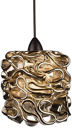 WAC Lighting MP-544-GL/DB Candy Pendant Fixture with Dark Bronze Canopy, One Size, Gold ()
