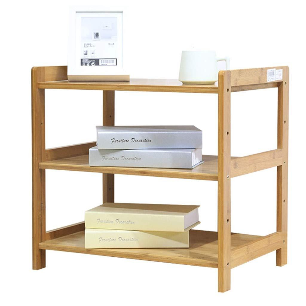 L-COVER Bamboo Storage Cabinet, 3-Story Bedroom Rack Can Store Books Tea Set Potted Plants (Size : 42x38x50cm) by L-COVER