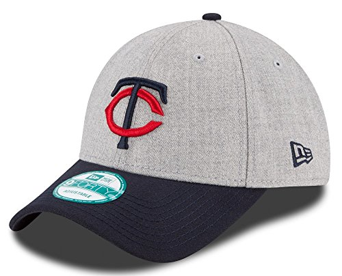 MLB Minnesota Twins The League Heather 9FORTY Adjustable Cap, One Size, Gray