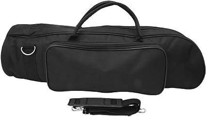 Estuche para trompeta Estuche duradero Accesorio de instrumento portátil acolchado de nylon suave con cremalleras dobles y correa de hombro ajustable en negro: Amazon.es: Instrumentos musicales