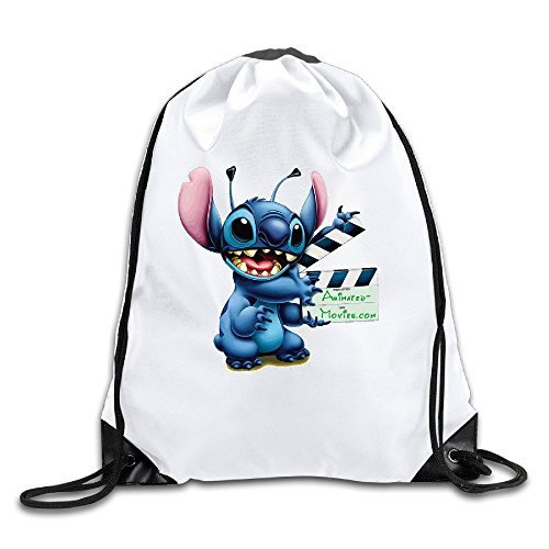 Lilo Stitch Animated (AGOGO Lilo And Stitch Animated Movies Drawstring Backpack Bag)