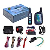2 Ways Car LCD Alarm Auto Security System with Remote 3000ft FSK Communication Range Six-Tone 120db Siren US Delivery -  ZeHuoGe