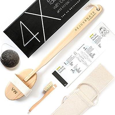 Luxurious All Natural Dry Body Brushing & Konjac Sponge Bundle