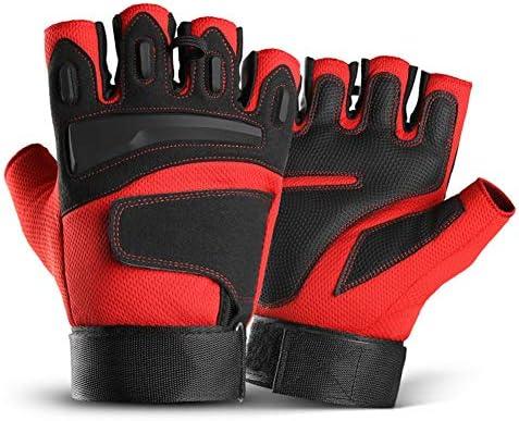 用手袋 バイク用 サイクリング ハーフフィンガーグローブ モーターバイク用手袋 通気性 衝撃吸収 保護 プロテクター トレーニング スポーツ 手袋
