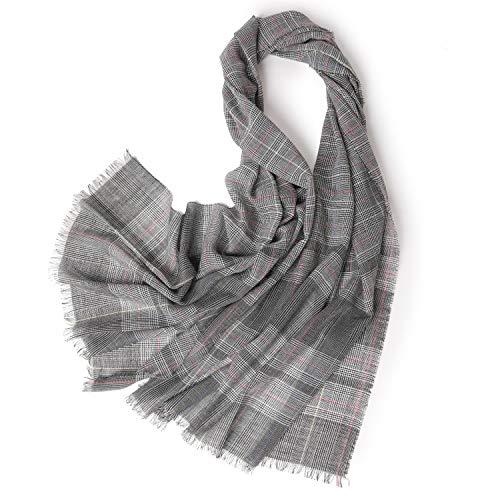 呪いゾーンまろやかなスカーフの秋、グレーのチェック模様の暖かいレーヨンハウンドトゥースショールデュアル目的