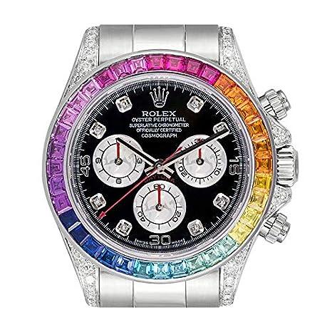 Rolex Cosmograph Daytona White Gold Rainbow Diamond Bezel 116509