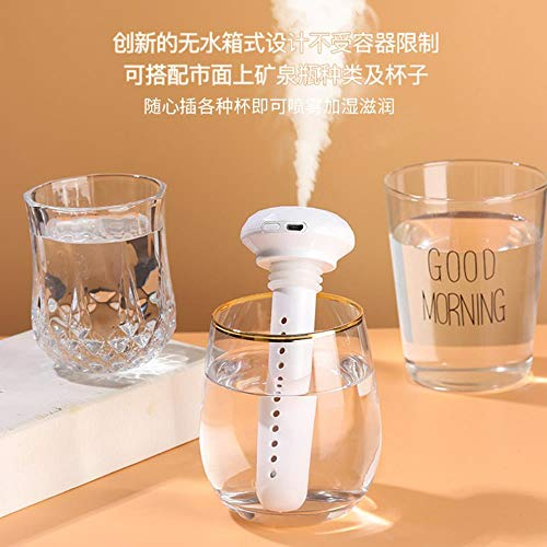 USB Portable Air Humidifier Diamond Bottle Aroma Diffuser Mist Maker For Home US