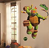 Teenage Mutant Ninja Turtles Mike Peel And Stick Wall Decals Sticker For Boys Kids Room Comic Wall Art Decor Picture