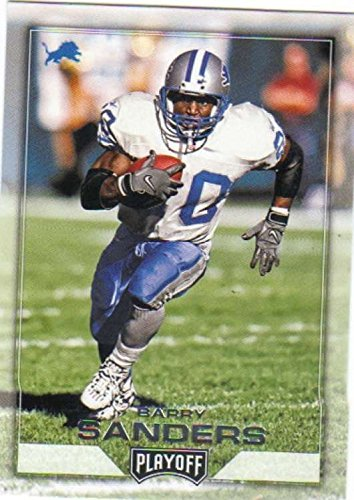 2016 Panini Playoff #187 Barry Sanders Detroit Lions Football Card in Protective Screwdown Display C - Barry Sanders Football Jersey