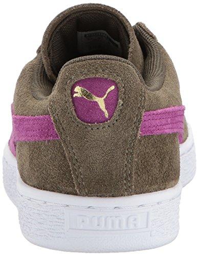 Puma Donna Camoscio Classico Wn Sneaker Oliva Notte-viola Scuro