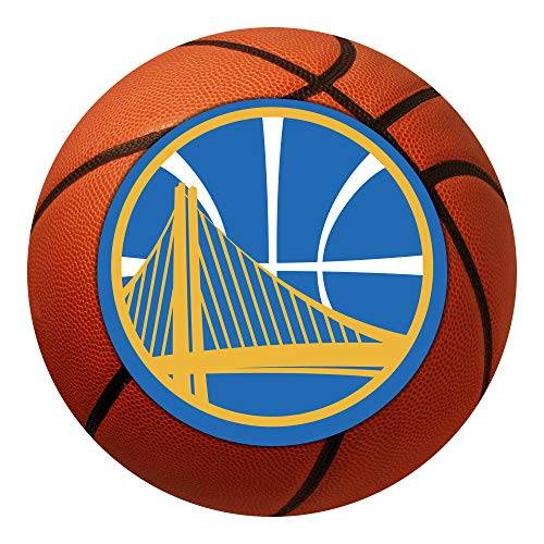 (FANMATS NBA Golden State Warriors Nylon Face Basketball Rug)