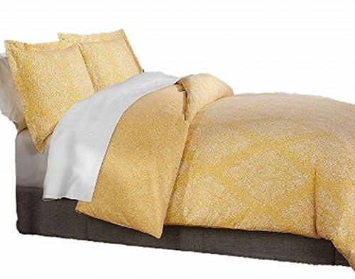(Sonoma Yellow Paisley 3 Pc Duvet Cover Set Full Queen Size Bed)