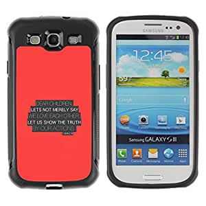 LASTONE PHONE CASE / Suave Silicona Caso Carcasa de Caucho Funda para Samsung Galaxy S3 I9300 / BIBLE John 3:18 Let Us Show The Truth