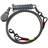 Freedom Aerial Dog Runs Replacement Lead Line Cable Shock Absorbing Spring-Standard Duty (10 FT)