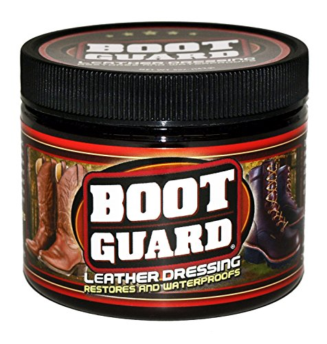 Boot Guard Leather Dressing: Restores and Conditions Leather Boots, Shoes, Automotive Interiors, Jackets, Saddles, and Purses 5 Ounce Jar (Boot Conditioner)