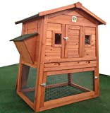 RH-57 Rabbit Hutch with Storage for Hay / Straw