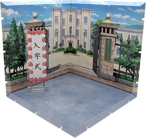 PLM Dioramansion 150: School Front Gate Figure Diorama, Multicolor