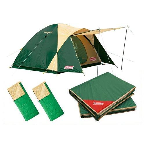 コールマン 4点セット BCクロスドーム フォールディングテントマット パフォーマー グリーン テント マット 寝袋 Coleman 2000017132 2000017147 2000027261   B00VHDYV9A