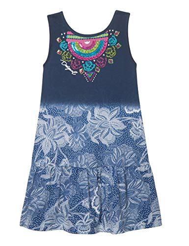Desigual DESIGUAL GIRL KNIT DRESS SLEEVELESS (VEST_BLOEMFONTEIN) meisjes jurk