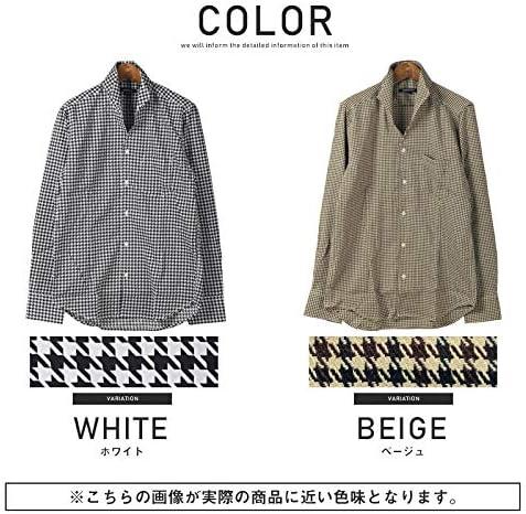 LUX STYLE(ラグスタイル) シャツ メンズ イタリアンカラー 長袖シャツ チェック柄