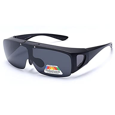 9f3ab0817031 Fit Over Wrap Around Glasses Goggles Graduated Polarized Night Tug Above  Night Vision Driving Sunglasses Sport Eyewear  Amazon.co.uk  Clothing