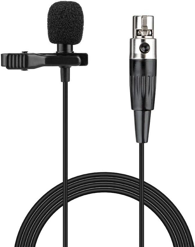 Micrófono de solapa Lavalier Micrófono de condensador cardioide mini XLR de 3 pines con clip para sistema inalámbrico AKG Samson y transmisor de petaca