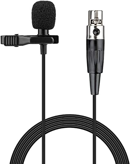 2-PACK Mini XLR 3-Pin Female Pro Lapel Microphone// Mic Pack Audio Connector