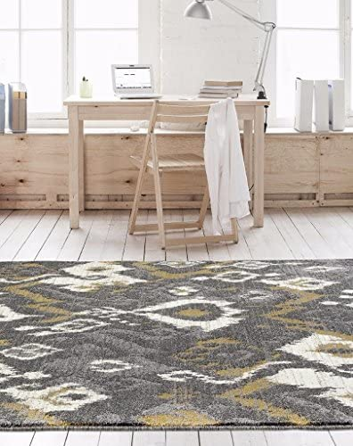 6021 Gray Abstract Trellis 7 10×10 6 Area Rug Carpet Large New