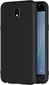 AICEK Funda Samsung Galaxy J3 2017, Negro Silicona Fundas para Samsung J3 2017 J330 Carcasa Galaxy J3 2017 Negro Silicona Funda Case (5,0 Pulgadas SM-J330F): Amazon.es: Electrónica