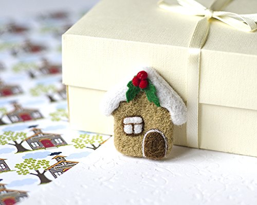 Cute Christmas Ideas For Friends.Amazon Com Handmade Cute Christmas Pin Gingerbread House