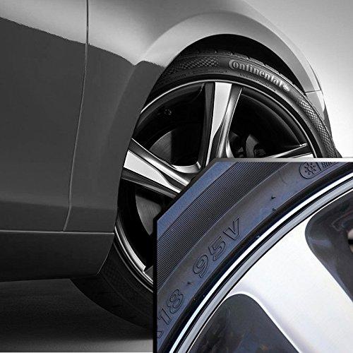 Black 20' Rims (Volvo V Series Wheel Bands Silver in Black Pinstripe Edge Trim for 13-22' Rims)