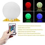 Abedoe 3D Printing Moon LED Night Light 16 Colors