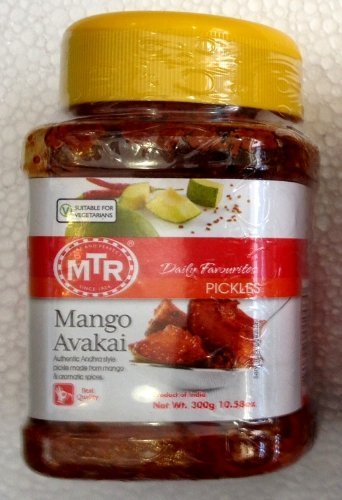 - MTR Mango Avakai Pickle - Authentic Andhra Style Pickle Made From Mango & Aromatic Spices - 10.58oz., 300g. by MTR