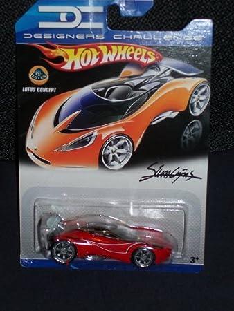 Hot Wheels Designers Challenge Red Lotus Concept with Silver Spoiler 1:64 Scale: Amazon.es: Juguetes y juegos